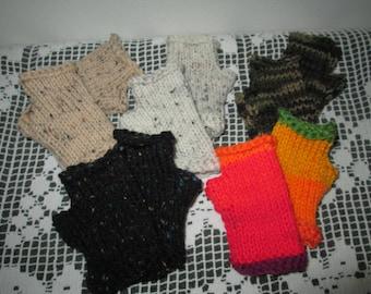 Childrens Fingerless Gloves Knitted by SuzannesStitches, Childrens Fisty Knitted Gloves, Girls Fingerless Gloves, Boys Fingerless Gloves