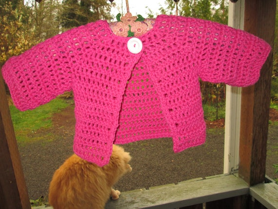Newborn 12 Month Hot Pink Baby Girl Sweater By Etsy