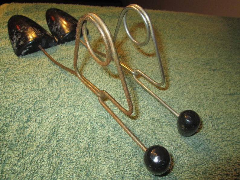 Wood and Wire Shoe Stretcher Forms Pair of Vintage Simplex Wood and Wire Shoe Forms or Stretchers Vintage Farm Style Shoe Stretcher Forms