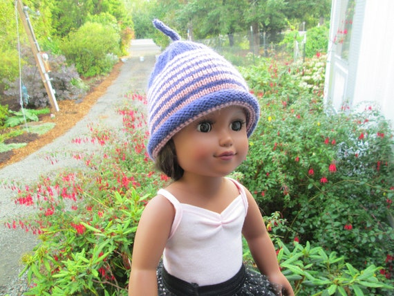 9f8fc68699a35 Hand Knit Baby Girl Purple and Pink Hat by SuzannesStitches