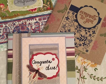 Congratulatory or any occasion greeting cards