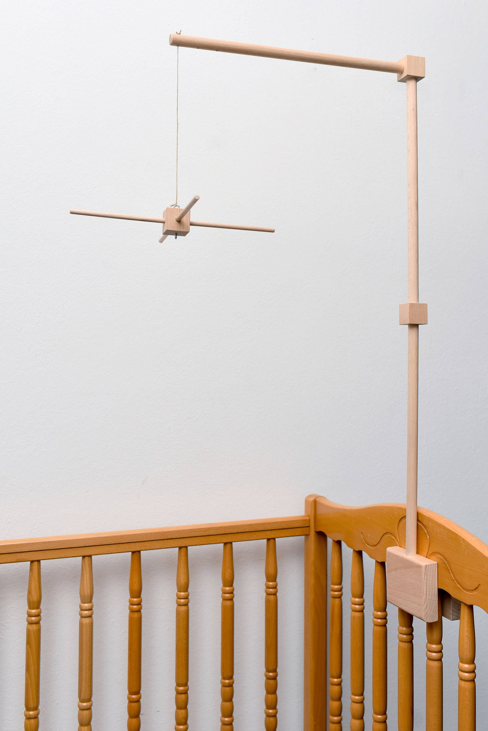 Baby Crib Wooden Mobile Arm With Mobile Hanger Baby Mobile