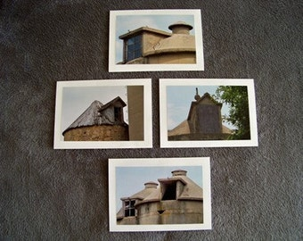 Silo Window Medley-set of 4 blank notecards