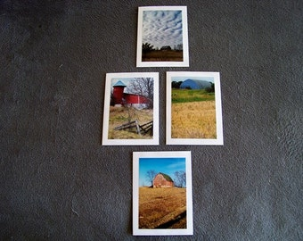 Barn Medley-set of 4 blank notecards- online pics are blurry, real pics aren't
