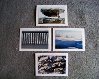 Winter Medley-set of 4 blank notecards- online pics are blurry, real pics aren't