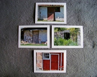 Door Medley-set of 4 blank notecards- online pics are blurry, real pics aren't