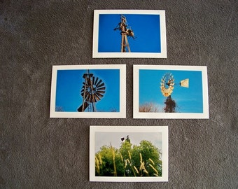 Windmill Medley-set of 4 blank notecards