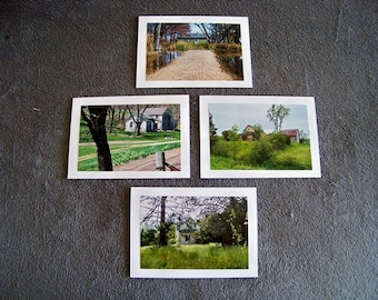 Housescape Medley-set of 4 blank notecards