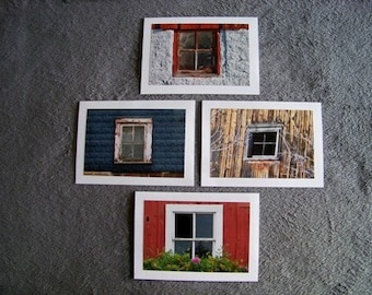 Window Medley-set of 4 blank notecards- online pics are blurry, real pics aren't