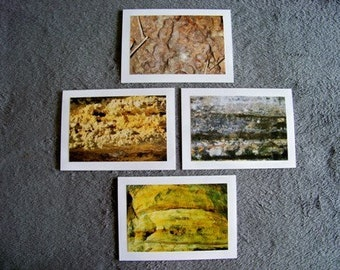 Rockscape Medley-set of 4 blank notecards- online pics are blurry, real pics aren't