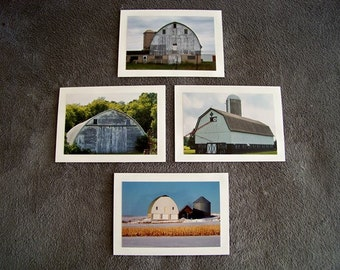 White Barn Medley-set of 4 blank notecards