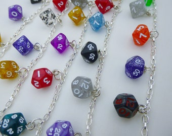 Mini Rainbow Dice Bracelet, D&D, Charm Bracelet, Dice Set, Dungeons and Dragons, dice jewelry, geek, geeky, DND, geekery