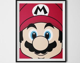 Super Mario Bros, Video Game Posters, Super Mario Decor, Video Game Wall Art, Mario and Luigi, Mario Wall Art, Super Mario Poster, Geek Art