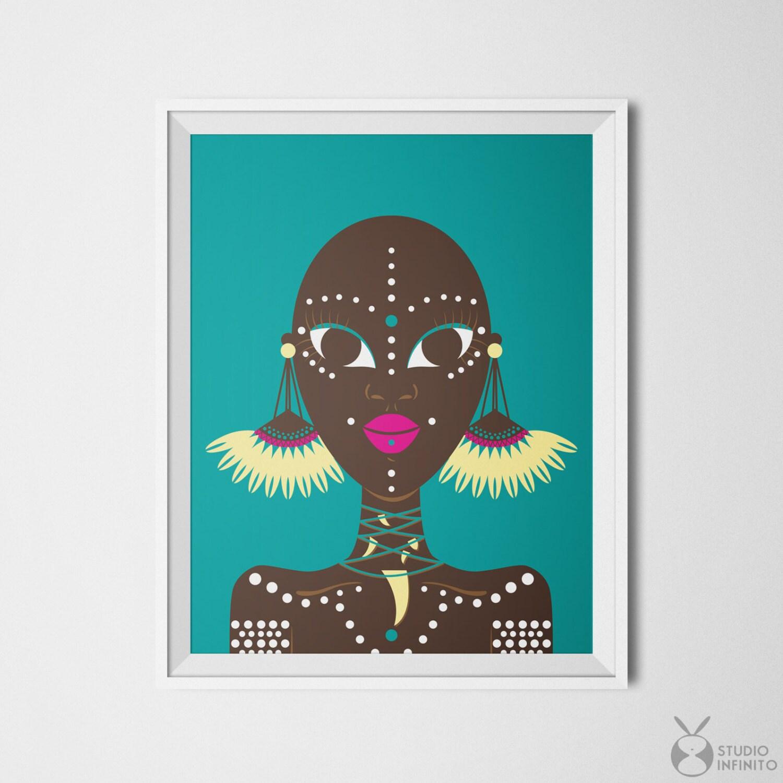 African Wall Decor Ethnic Wall Art Ethnic Print African Woman