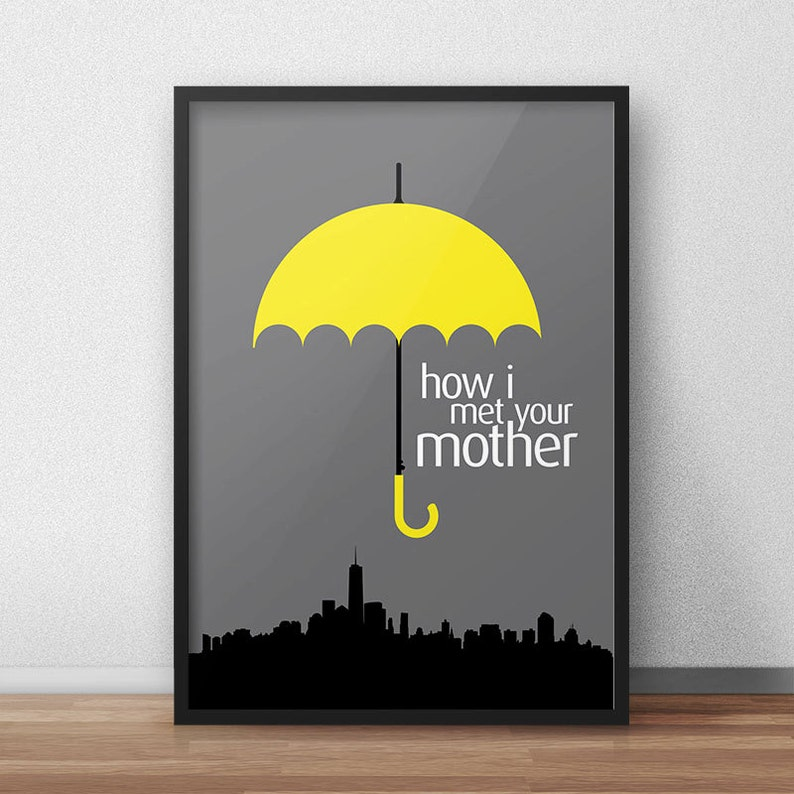 How I Met Your Mother Himym Poster Barney Stinson Robin Etsy