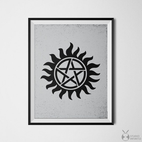Supernatural Poster Protection Tattoo Sam Dean Winchester Etsy