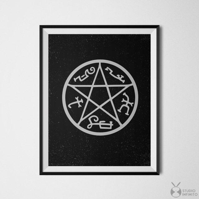 Supernatural Print Supernatural Devils Trap Etsy