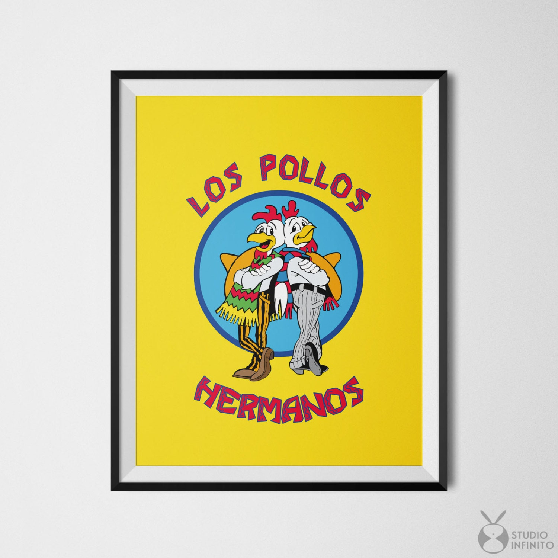 Los Pollos Hermanos Cool Poster Breaking Bad Art Movie   Etsy
