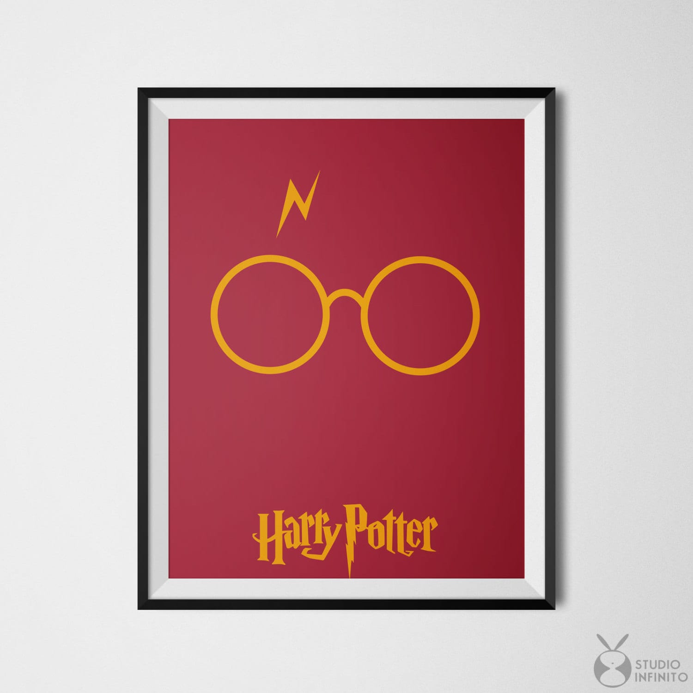 Harry Potter Print Wall Art Minimalist Poster Harry Potter