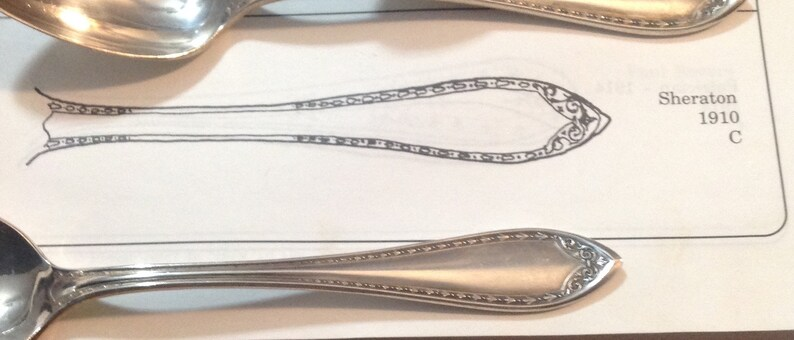Vintage Oneida Sheraton Flatware Teaspoon Silverplate 6 Piece 1910 Set