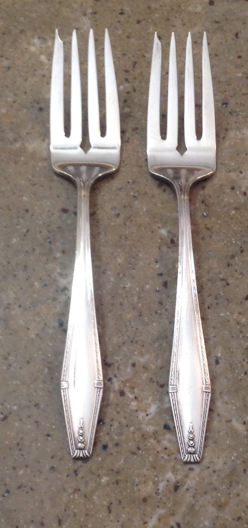 State House Salad Fork Vintage 1942 Sterling Silver Formality Silverware Fork
