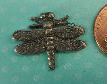 Pewter Dragonfly Pocket Buddy Magical Fire
