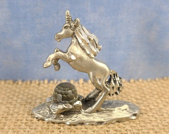 Pewter Unicorn with Swarovski Crystal Magical Fire