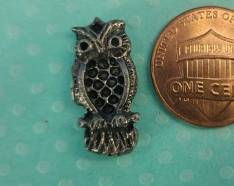 Pewter Owl Pocket Buddy Magical Fire