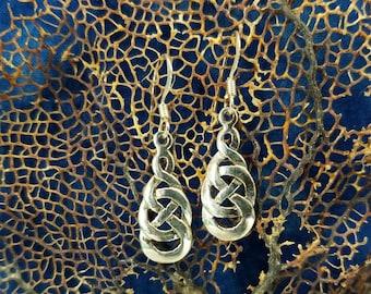 Sterling Celtic Knot Earrings Magical Fire