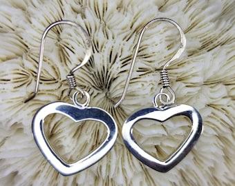 Sterling Silver Heart Earrings Magical Fire