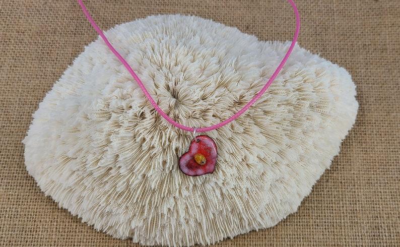 Cute Enamel Heart Pendant Handmade by Magical Fire image 0