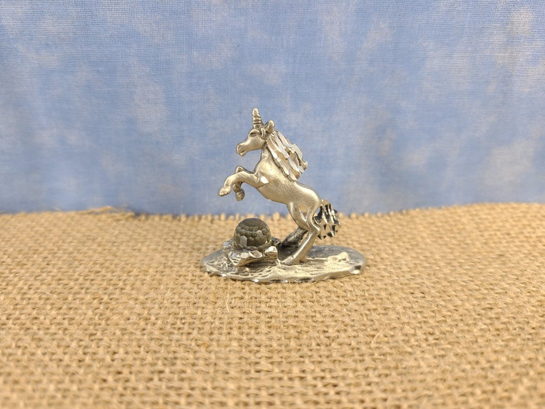 Pewter Unicorn with Swarovski Crystal Magical Fire image 0