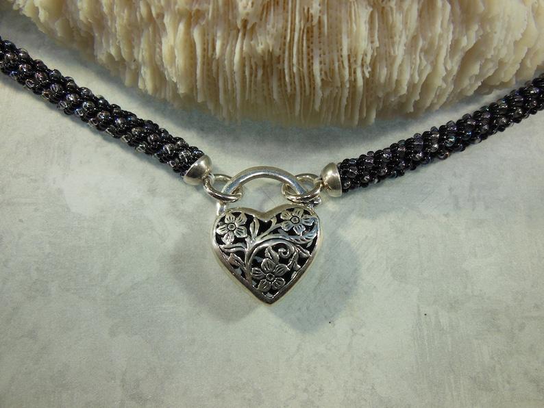 Russian Spiral Black & Iridescent Discreet BDSM Collar image 0