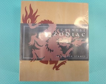 Chinese Zodiac Symbols Stamps Magical Fire