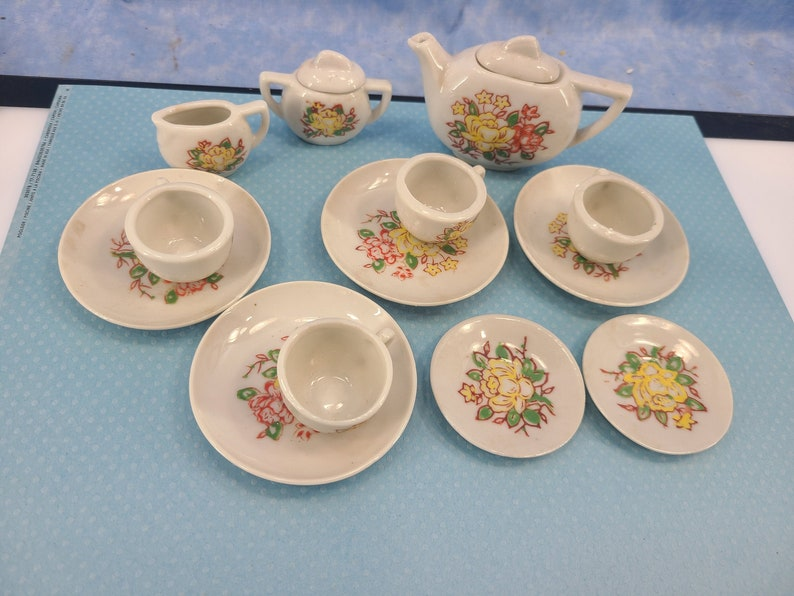 Vintage Miniature Dollhouse Dishes Magical Fire image 0