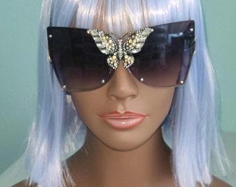Madam Butterfly Oversized Sunglasses