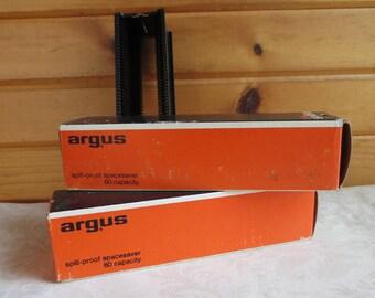 2 Argus 60 Capacity Vintage Slide Changer Magazines