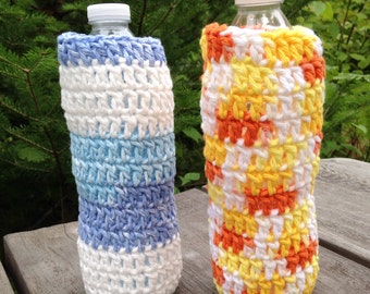 Set of 3 Crochet Water Bottle Cozies