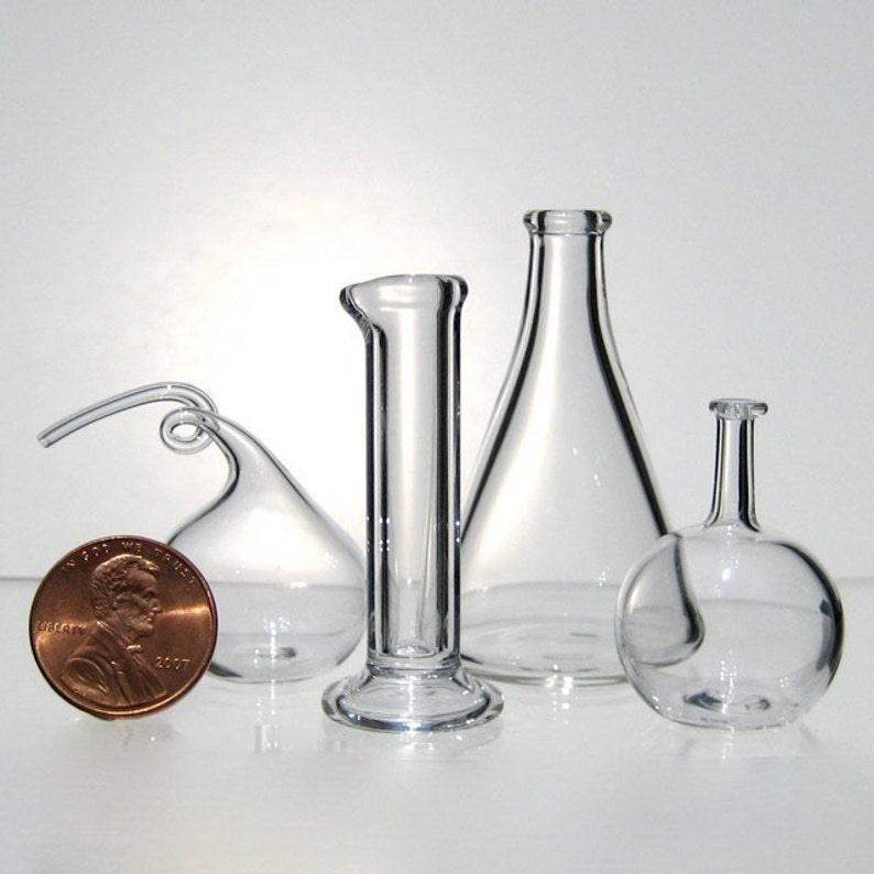 Chemistry Set Miniature Hand Blown Glass image 0