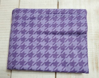 Houndstooth purple flannel 100