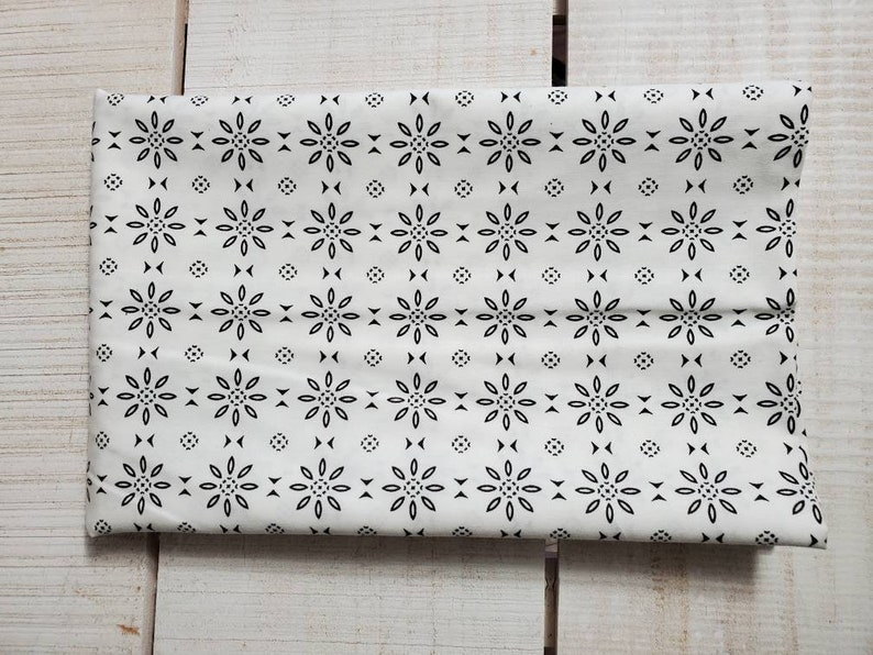 black and white print Low volume cotton fabric OOP 139