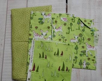 Woodland Wonder - cotton fabric - scrap bundle - remnants 107