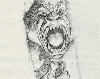 John Carter Gorilla sketch