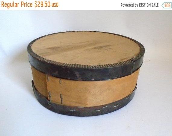 Sale Vintage Wood Metal Round Cheese Box