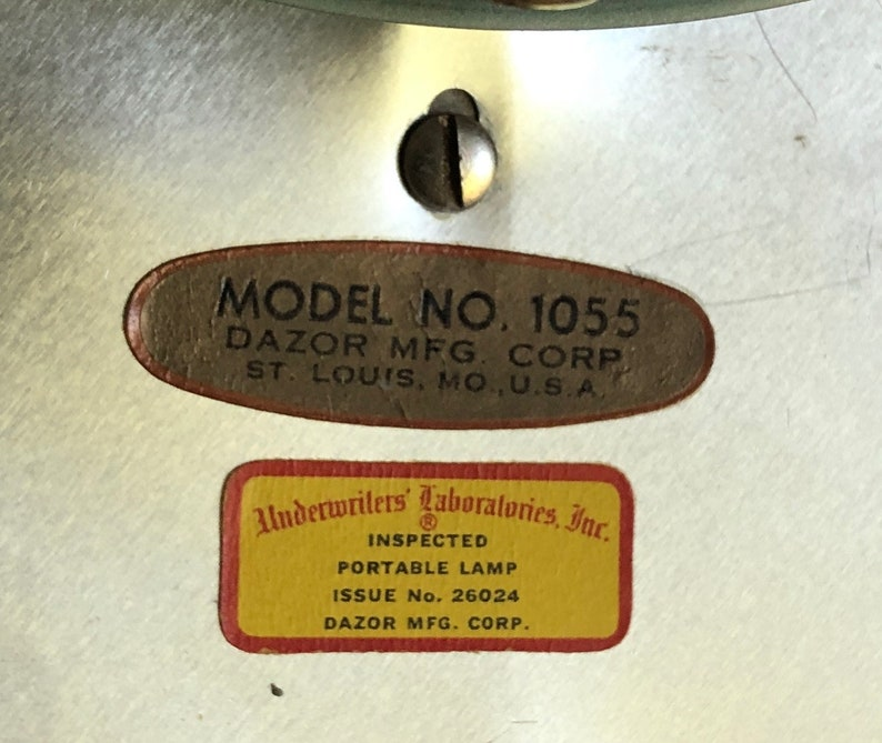 Sale Mid Century Modern Dazor Metal UFO Desk Lamp Needs Repair Model 1055