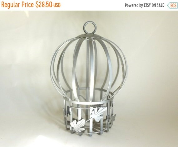 Sale - Vintage Thick Metal Decorative Bird Cage