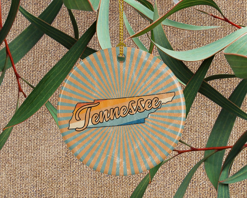 Tennessee Ornament  Distance Gift for Him or Her  Travel image 0
