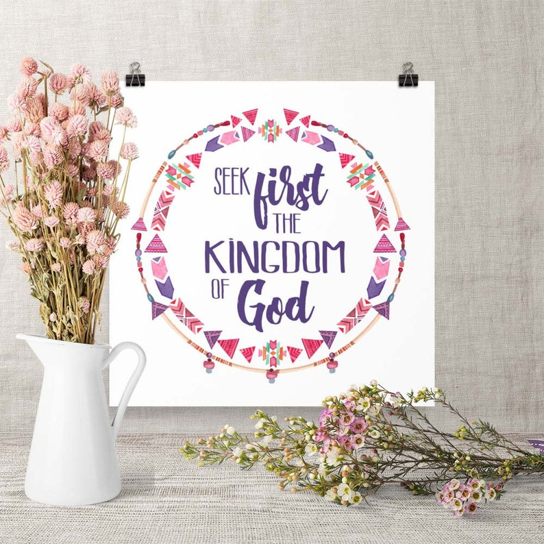 Downloadable Art Seek First the Kingdom Printable image 0