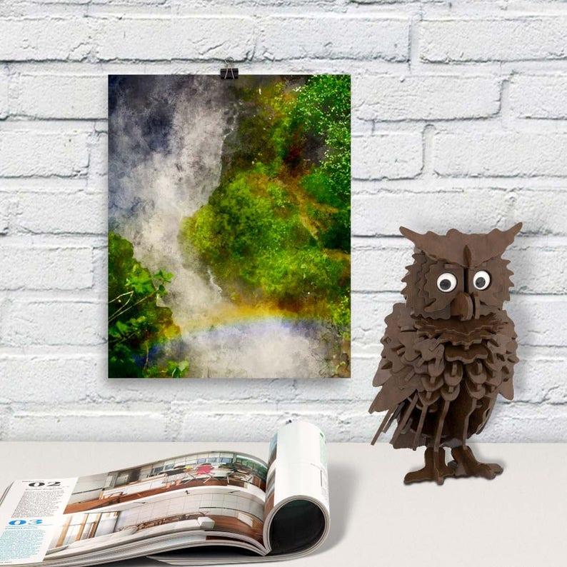 Downloadable Art Waterfall Printable Decor Birthday Gift for image 0