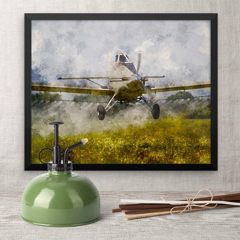 Framed Picture Airplane Art for Boyfriend Grandfather image 0